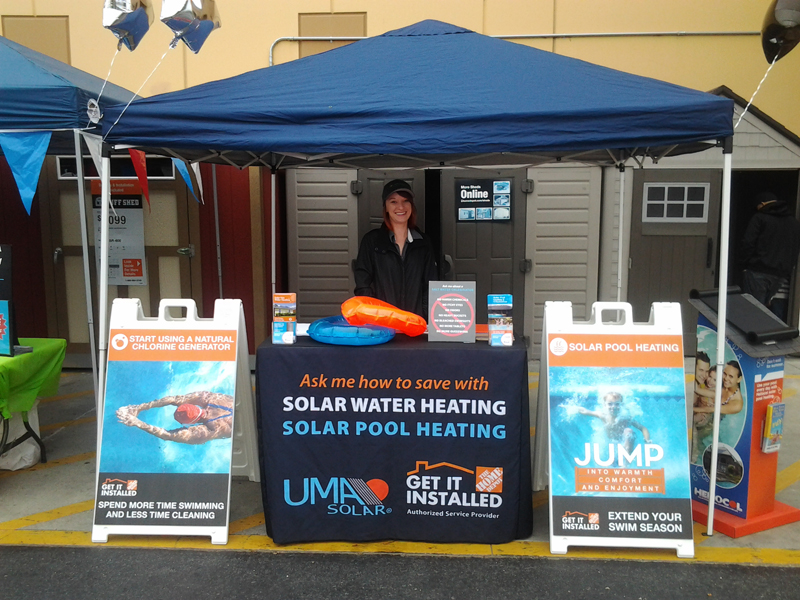 Home Depot and Solar Water Heating, Solarponics