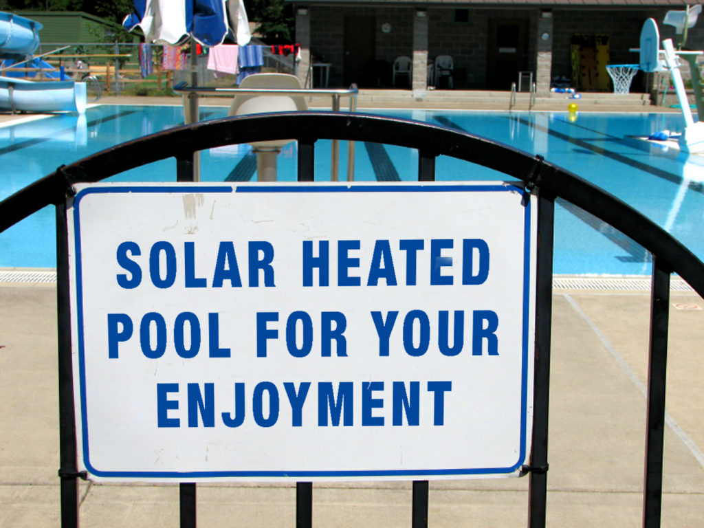 hotel solar pool heating
