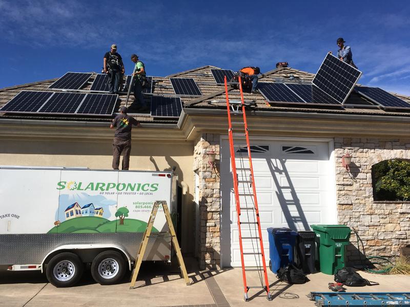 Solar energy residential install