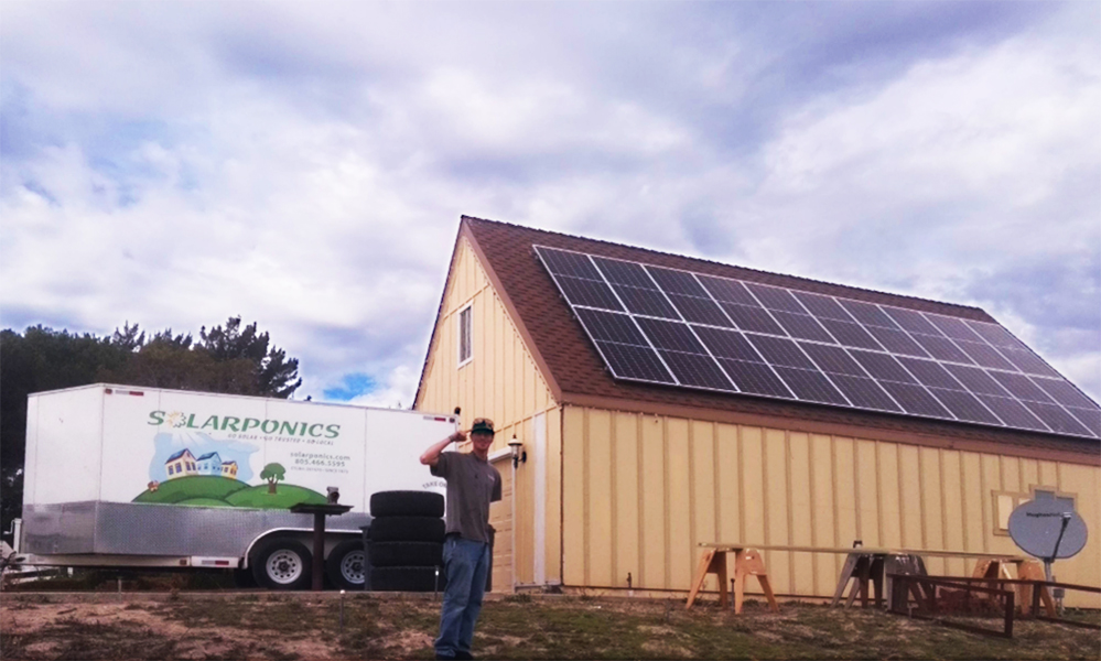 solar homes, solar roof, solar barn, solarponics