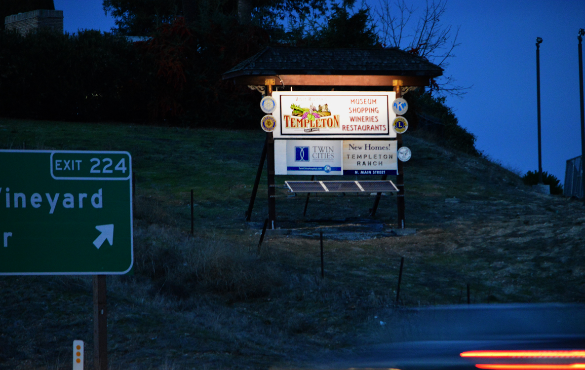 Solarponics installs solar powered lights for commercial signs.