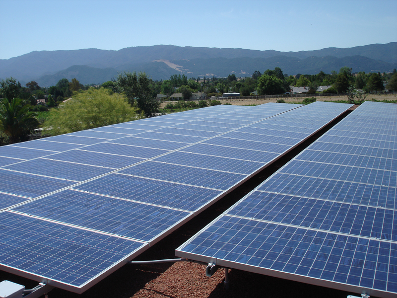 Commercial solar install, san luis obispo, ca