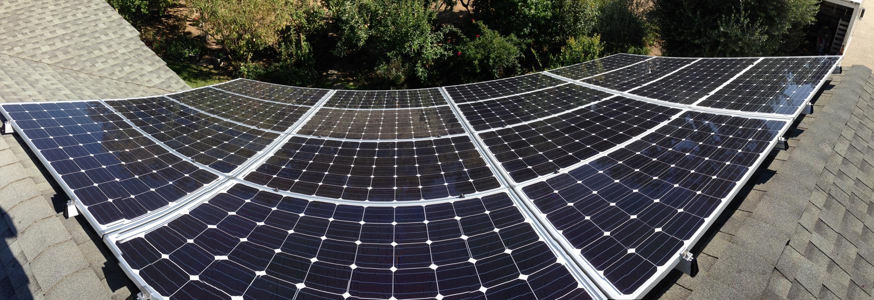 Solar panel fisheye