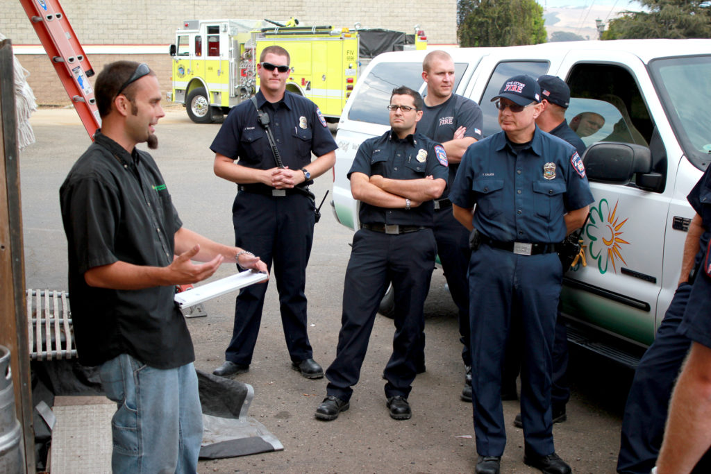 solar energy and firefighter training by Solarponics