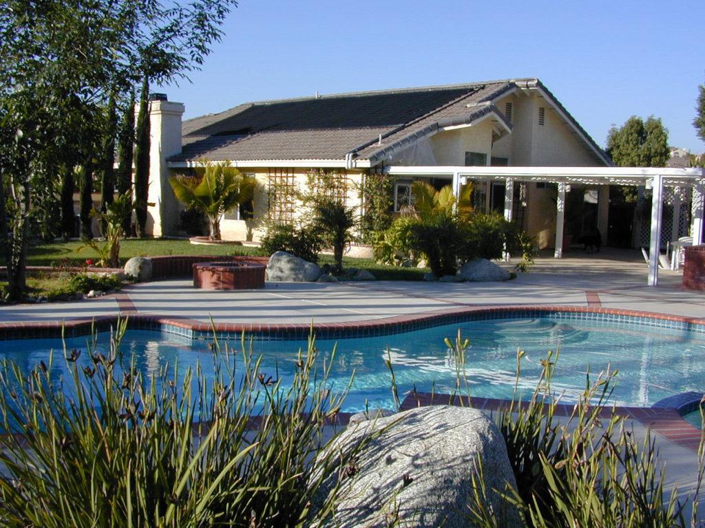 Helical solar pool heating install
