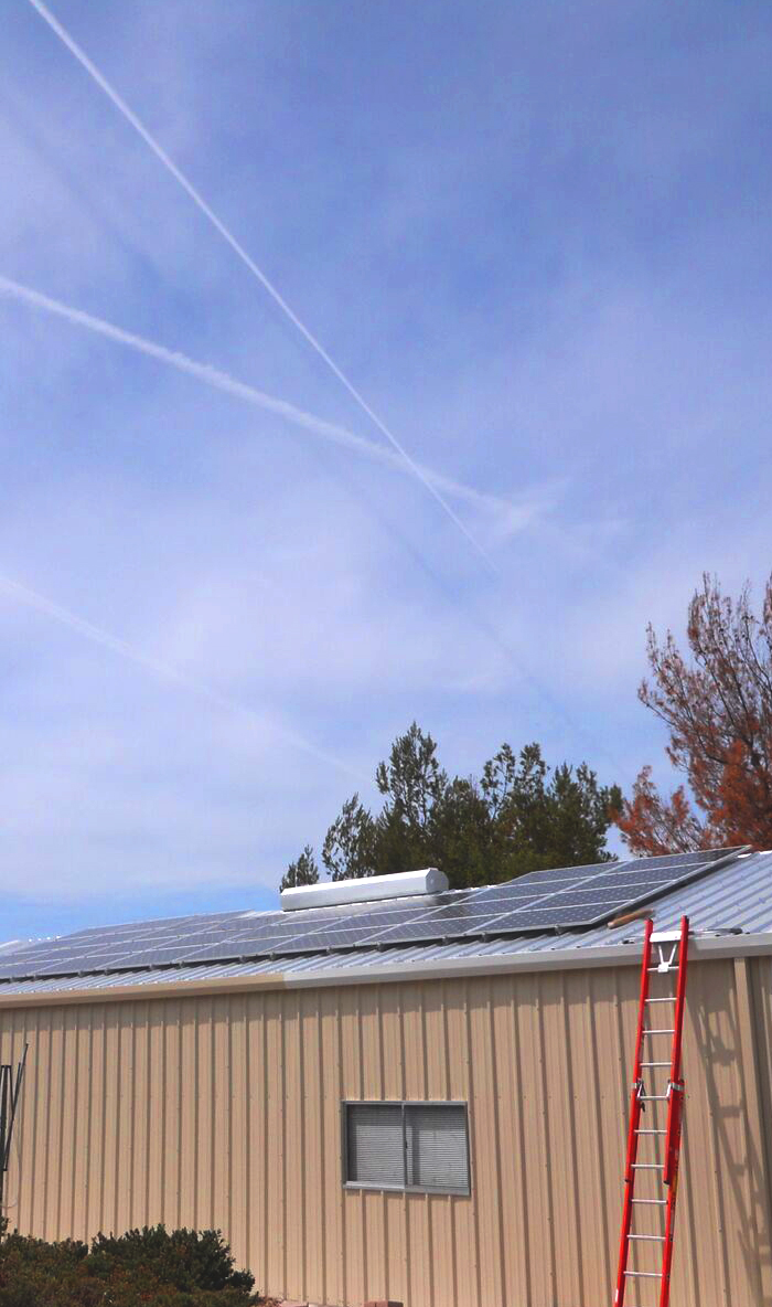 solar roof mount with solar water heating