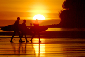 surfers and solar energy