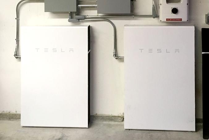 A double Tesla Powerwall install by Solarponics.