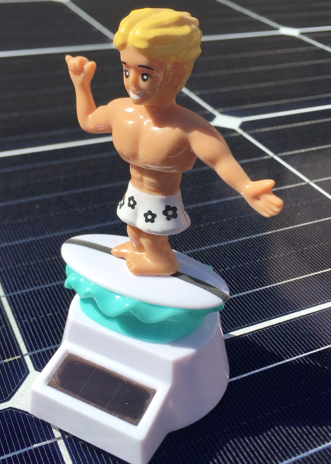 The Solar Surfer bobblehead