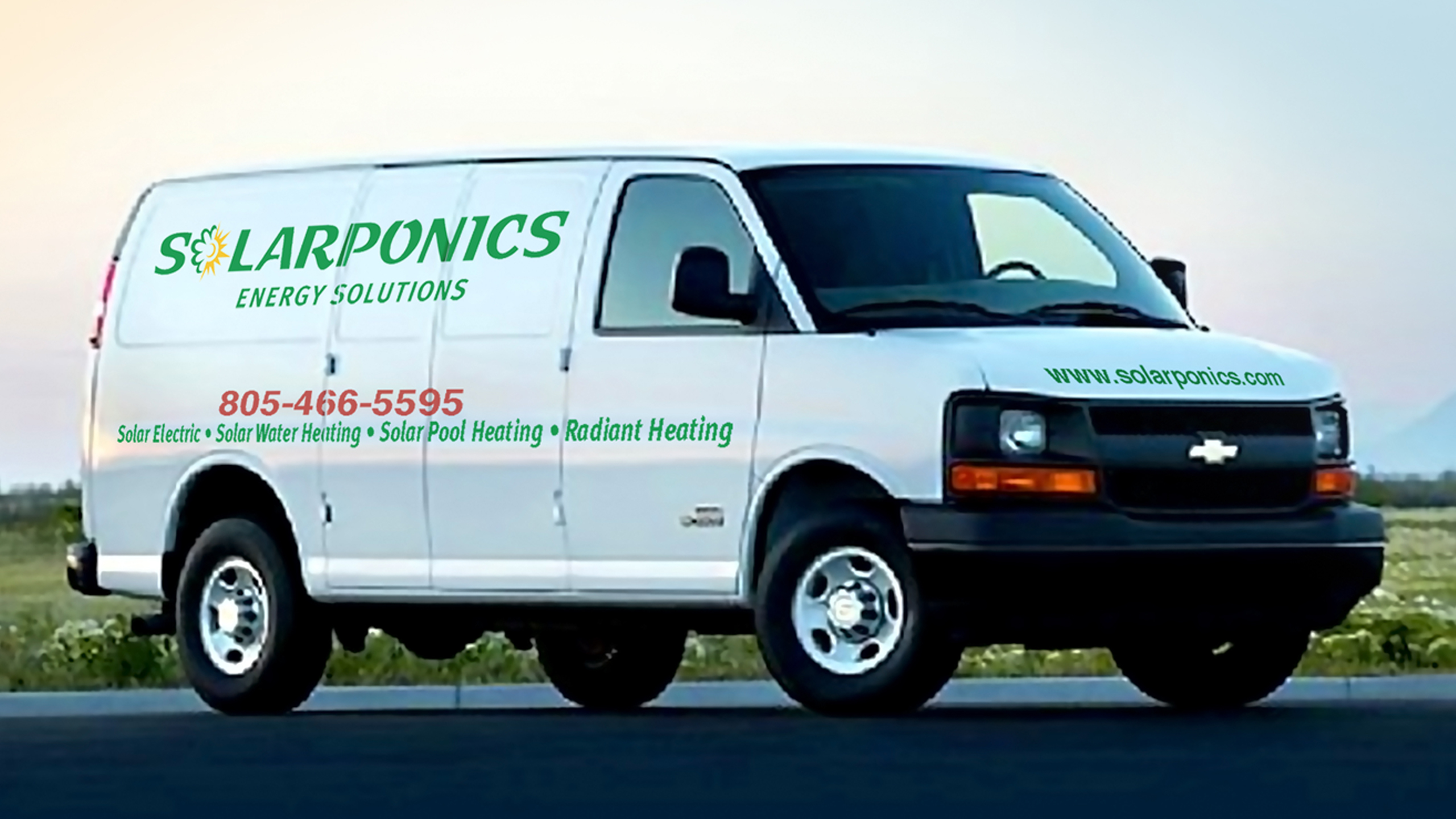 solarponics service van
